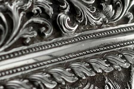 antiguedades de plata, marco de plata
