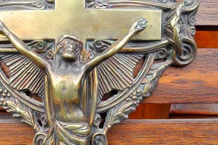 antiguedades religiosas, cristo antiguo, cruz