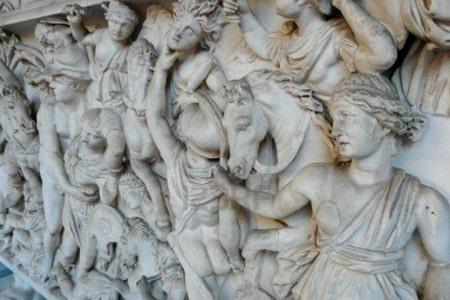 arte y pintura antiguos, esculturas de marmol