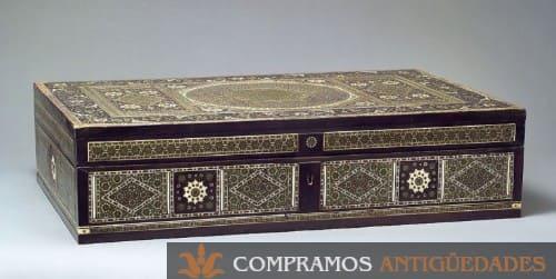 Caja antigua de colección, caja antigua de madera