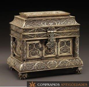 Cajas de colección antigua, cajas artísticas antiguas, cofre antiguo