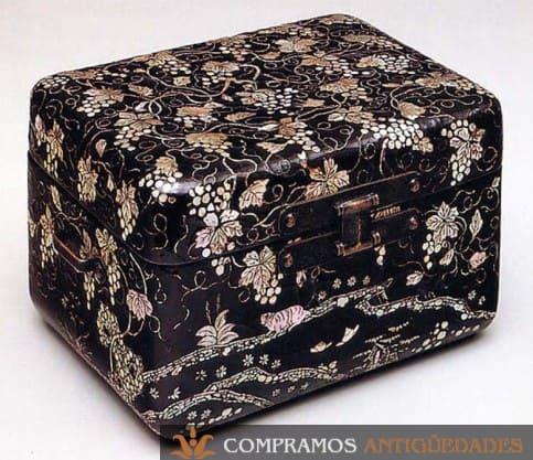 Cajas lacadas japonesas antiguas, cajas lacadas orientales