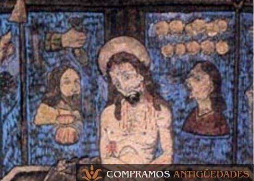 Cuadro de plumas, cuadro de cristo fabricado con plumas