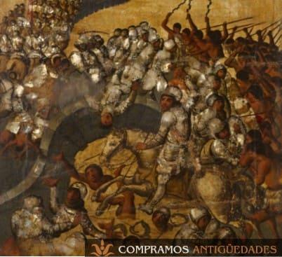 cuadros antiguos coloniales de nácar