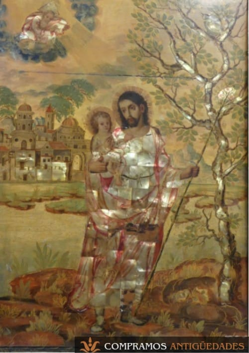 cuadros religiosos de nácar