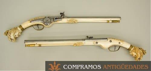 escopetas de marfil antiguas