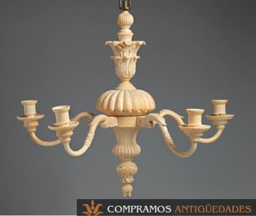 lampara de marfil antigua