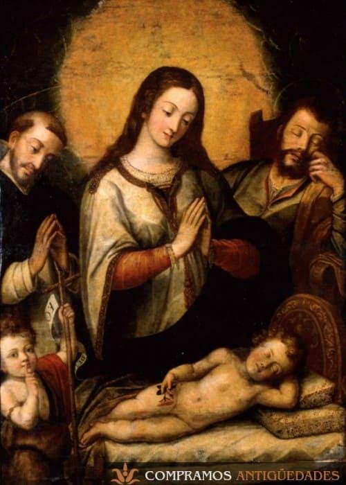 Virgen del silencio antigua cusqueña, Cuadro cuzqueño de la Virgen