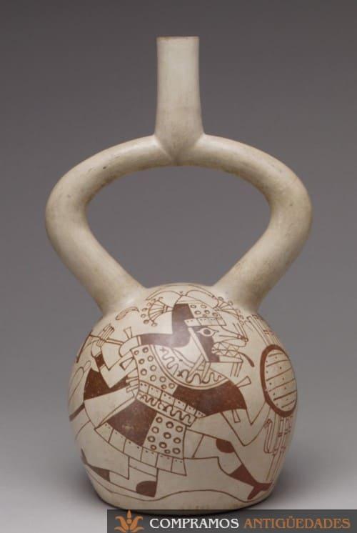guerrero con escudo en cerámica sudamericana