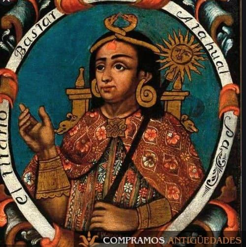 Donde vender un cuadro virreinal rey inca, Pintura de oro de arte virreinal, comprador de cuadros virreinales, compra venta de pinturas virreinales peruanas