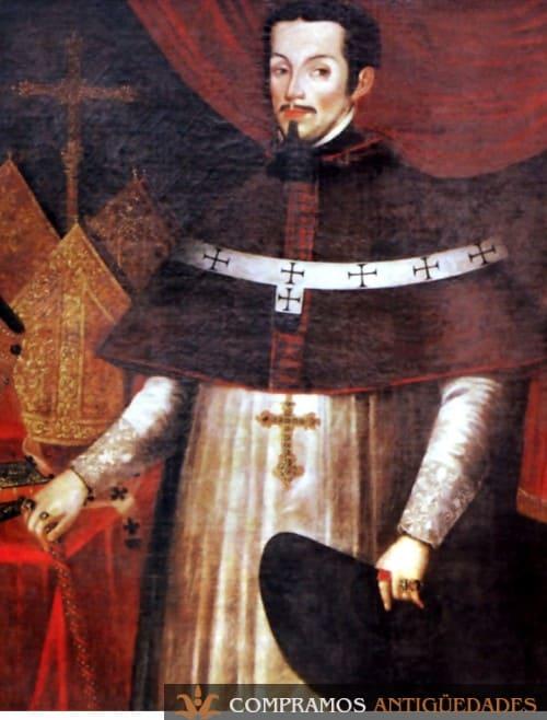 21-cuadro-antiguo-vender-virrey-peru-eclesiástico-melchor-liñán