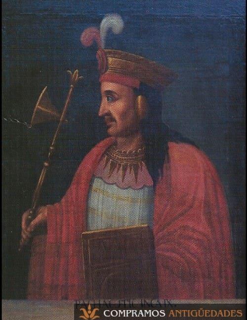 9-oleo-lenzo-antiguo-rey-inca-pachacuti