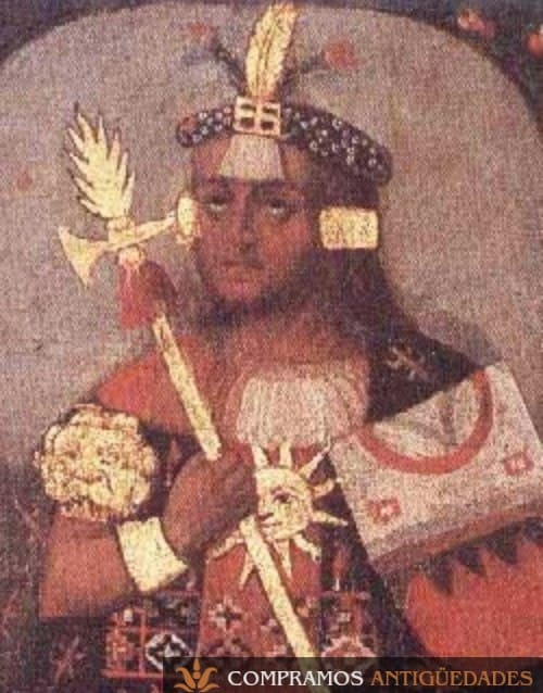 9-oleo-lenzo-oro-siglo-xvii-inca-pachacuti