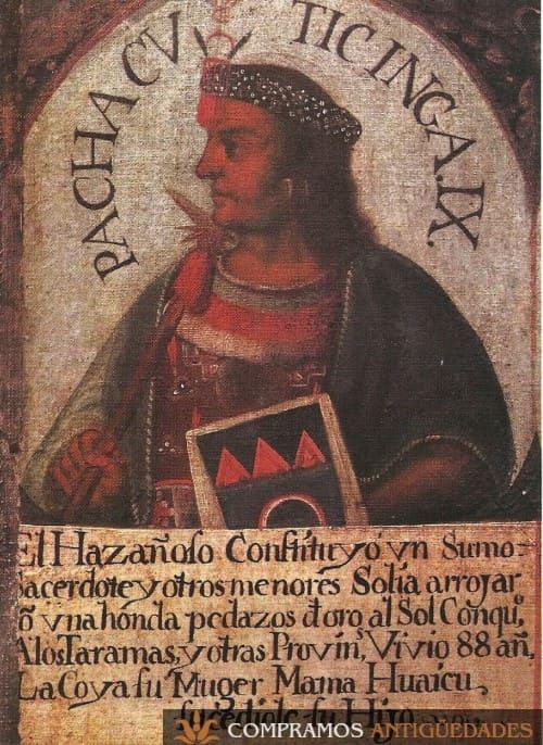 9-pintura-antigua-siglo-xvii-rey-pachacuti