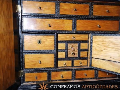interior bargueño ebano ceylan antiguo