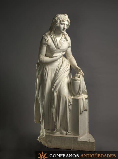 Escultura de mármol del siglo XVIII
