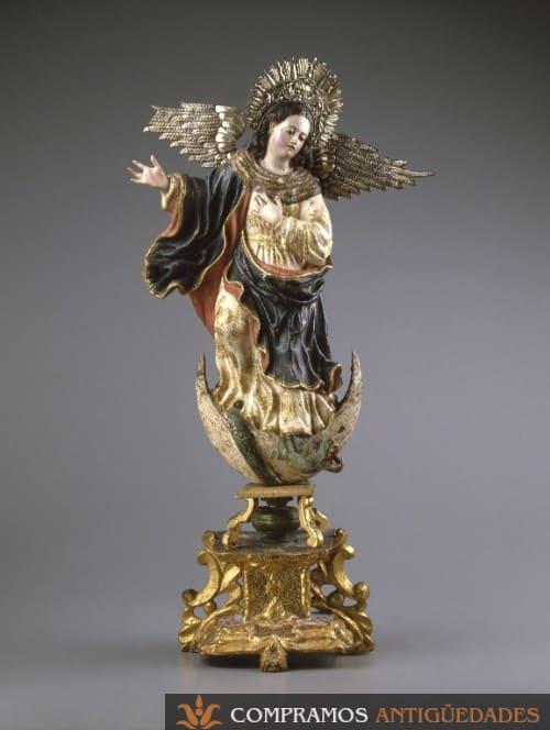 Escultura de madera antigua, escultura colonial mexicana