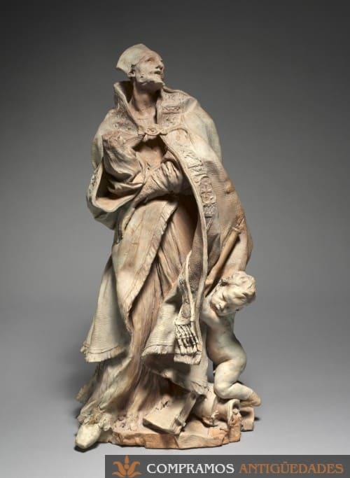 escultura barro tarracota antigua, Escultura de terracota antigua