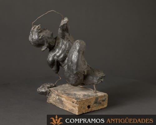Escultura de cera antigua