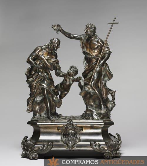 grupos escultóricos, escultura de bronce religiosa