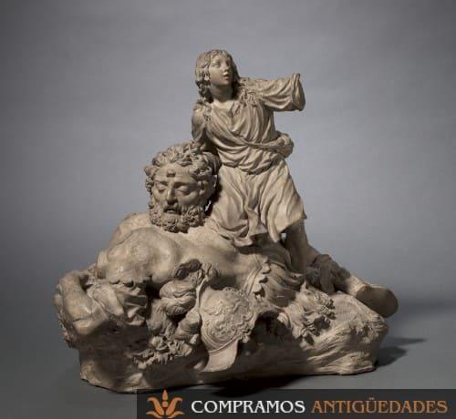 grupo escultorico tarracota siglo xviii